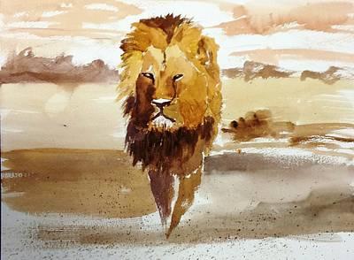 Poachers Painting - Cecil The Lion by Larry Hamilton