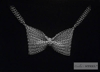 Handmade In Usa Jewelry - Cecilia's Steel Butterfly Bow Tie by Cecilia Taibo Rahban