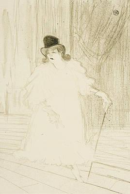 Belle Epoque Drawing - Cecy Loftus by Henri De Toulouse-Lautrec