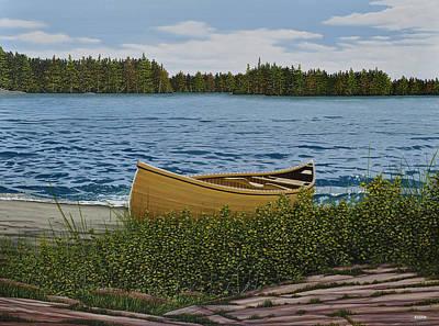 Cedar Canoe Original by Kenneth M  Kirsch