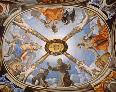 Eleonora Painting - Ceiling Of The Chapel Of Eleonora Of Toledo by Bronzino