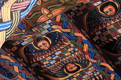 Ceiling Paintings In Abba Pantaleon  Print by Aidan Moran