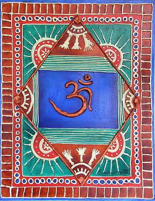 Celebrating Om Print by Sandhya Manne