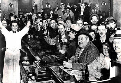 Celebrating The End Of Prohibition Print by Bill Cannon