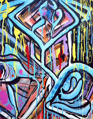 Free Form Painting - Celebrating The Future - Right by Larry Calabrese