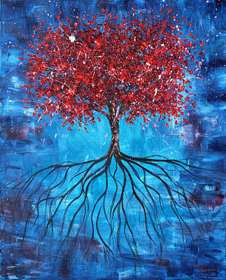 Tree Roots Painting - Celebration by Ben Kelley