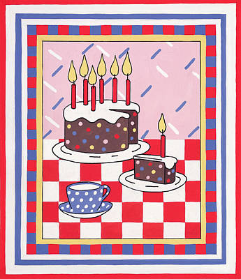 Celebration Cake Print by Lavinia Hamer