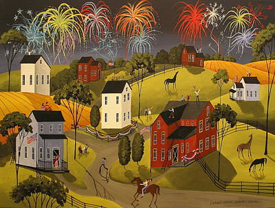 Independence Day Painting - Celebration by Debbie Criswell