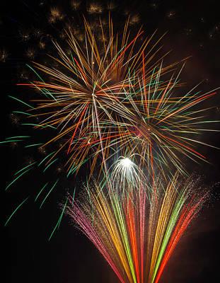 Celebration Fireworks Print by Garry Gay