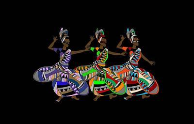 Traditional Folk Dance Digital Art - Celebratory Dance by Konyayeva