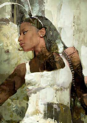 Portraits Painting - Celebrity / Nicky Minaj 2 by Jani Heinonen