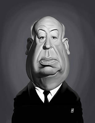 Digital Art - Celebrity Sunday - Alfred Hitchcock by Rob Snow