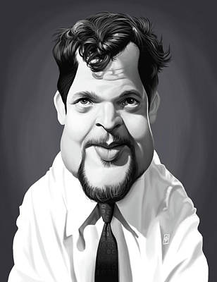 Digital Art - Celebrity Sunday - Orson Welles by Rob Snow