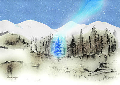 Celestial Beam Print by Arline Wagner