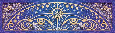 Mayan Painting - Celestial Gaze by Cristina McAllister