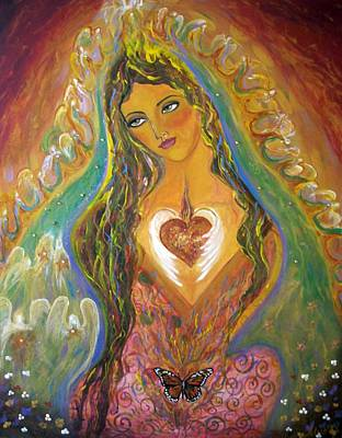 Virgen De Guadalupe Painting - Mother's Love by Alma Yamazaki
