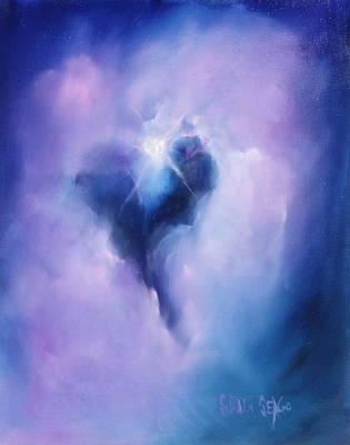 Nebula Painting - Celestial Heart by Sally Seago