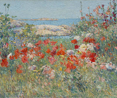 Celia Thaxter's Garden, Isles Of Shoals, Maine Print by Childe Hassam