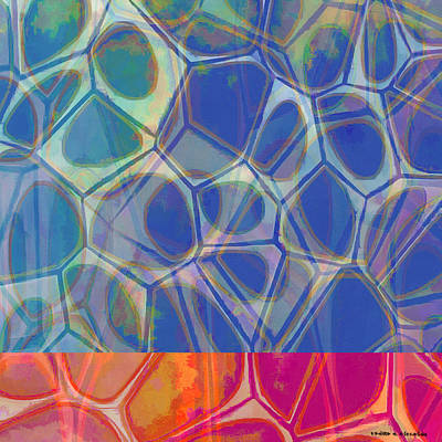 Abstract Painting - Cell Abstract One by Edward Fielding