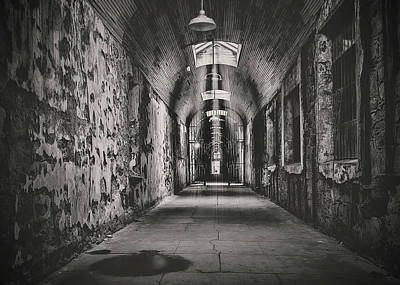 Haunted House Photograph - Cell Block 1 Bw by Heather Applegate