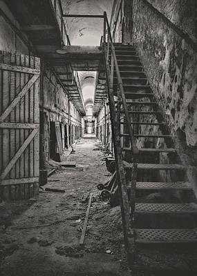 Haunted House Photograph - Cell Block 6 Bw by Heather Applegate