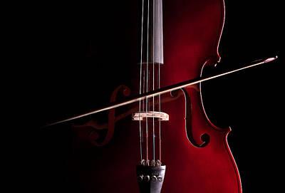 Violin Bows Violin Bows Photograph - Cello by Dario Infini