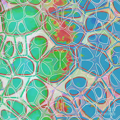 Cells 11 - Abstract Painting  Print by Edward Fielding