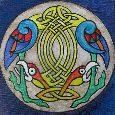 Celtic Art Painting - Celtic Bird by Frances Gillotti