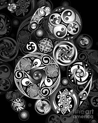 Celtic Clockwork Print by Kristen Fox