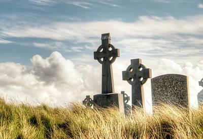 Celtic Grave Markers Print by Natasha Bishop