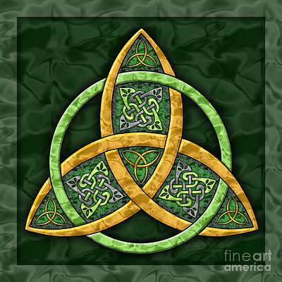 Trinity Painting - Celtic Trinity Knot by Kristen Fox