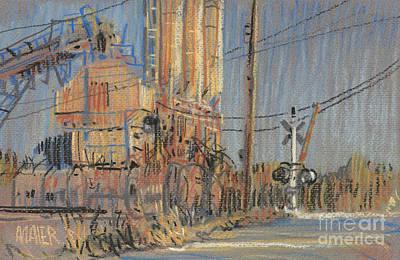 Cement Hopper Print by Donald Maier