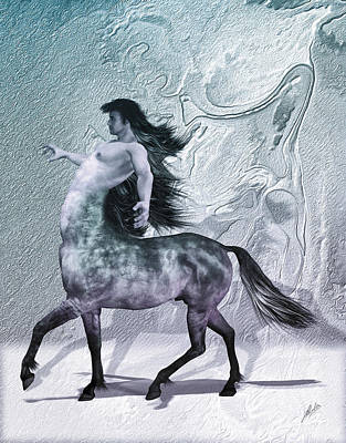 Centaur Mixed Media - Centaur Cool Tones by Quim Abella