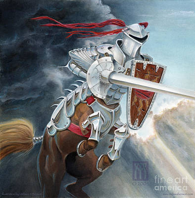 Centaur Mixed Media - Centaur Joust by Melissa A Benson