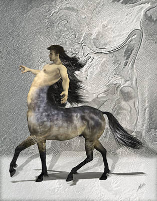 Centaur Mixed Media - Centaur Warm Tones by Quim Abella
