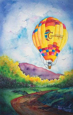 Balloon Fiesta Painting - Centennial Balloon Too by Michael Bulloch
