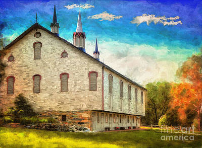 Old Barns Digital Art - Centennial Barn by Lois Bryan