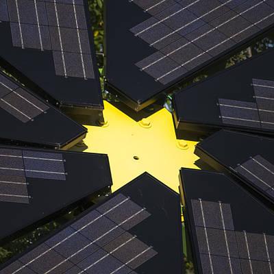 Center Of Solar Panel Array Print by Steven Ralser
