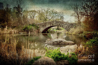 Central Park Gapstow Bridge Print by Joan McCool