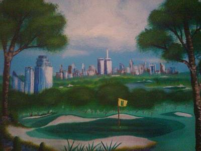 2001. World Trade Center Painting - Central Park Golf by Jason Walburn