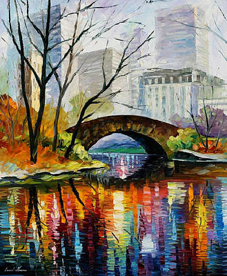 Broadway Painting - Central Park by Leonid Afremov