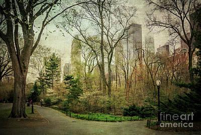 Central Park, New York City Print by Joan McCool