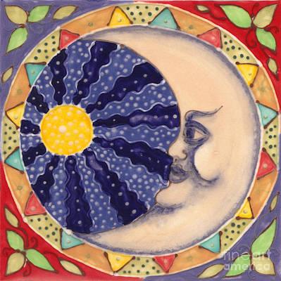 Ceramic Moon Print by Anna Skaradzinska