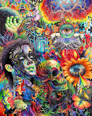 Psychedelic Painting - Cerebral Dysfunction by Callie Fink