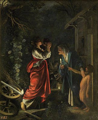 Candle Painting - Ceres At Hecuba's Home by Adam Elsheimer