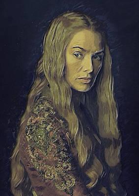 Lannister Digital Art - Cersei Lannister by Semih Yurdabak