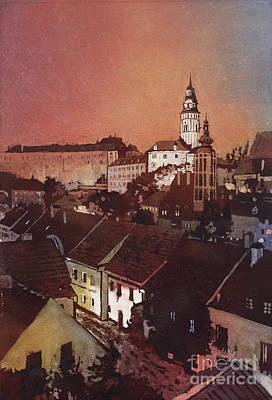 Cesky Krumlov Sunset Original by Ryan Fox