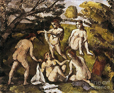 Cezanne: Five Bathers Print by Granger