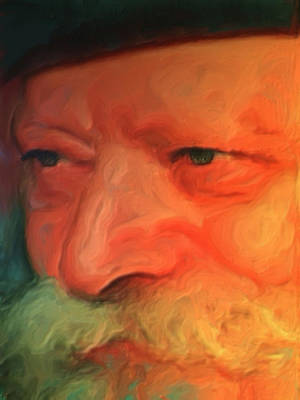 Portrait Painting - Chabad Lubavitch Rebbe by Exclusive Canvas Art