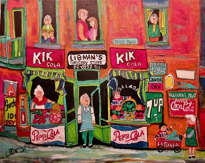 Painting - Chaim Libman's Grocery 1940's by Michael Litvack